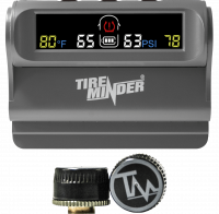 TireMinder Solar Powered Trailer TPMS, 2 Tire Kit
